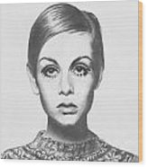 Twiggy - Pencil Wood Print