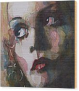 Twiggy Where Do You Go My Lovely Wood Print by Paul Lovering