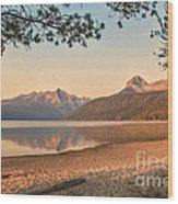 Twilight At Redfish Lake  Wood Print