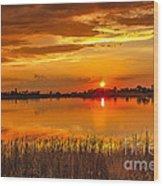Twilight At The Best Wood Print