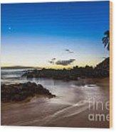 Twilight Beach - Beautiful And Secluded Secret Beach In Maui. Wood Print