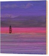 Twilight Between Sunset And Night Wood Print