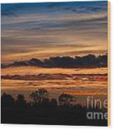 Twilight Colorful Sunset Wood Print