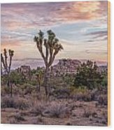 Twilight Comes To Joshua Tree Wood Print