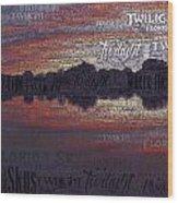 Twilight In Pasco Wood Print