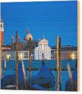 Twilight In Venice  Wood Print