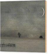 Twilight Wood Print by Kathy Jennings