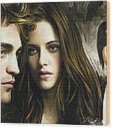 Twilight  Kristen Stewart And Robert Pattinson Artwork 1 Wood Print