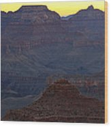 Twilight Mather Point  Wood Print