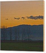 Twilight Mist Wood Print