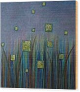 Twilight N Fireflies Wood Print