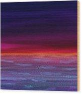 Twilight-night Wood Print