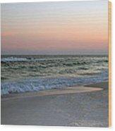 Twilight Ocean Beach Wood Print