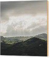 Italian Landscape - Twilight Of The Gods 2 Wood Print