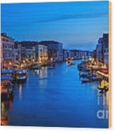 Twilight On The Grand Canal Wood Print