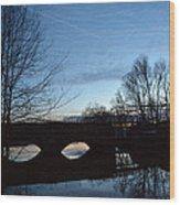 Twilight On The Potomac River Wood Print