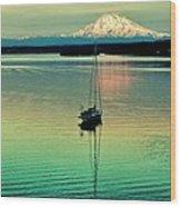 Twilight Sail Wood Print