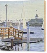 Twilight Sail Wood Print by Steve Simon