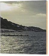 Sunset On The Beach - Twilight Symphony Wood Print