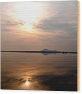 Twilight View Of Dal Lake- Kashmir- India- Viator's Agonism Wood Print by Vijinder Singh