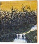 Twilight's Last Breath Wood Print by Erik Coryell