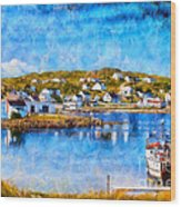 Twillingate In Newfoundland Wood Print