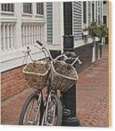 Twin Bicycles Wood Print
