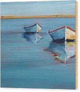 Twin Boats II Wood Print
