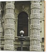 Twin Columns Wood Print