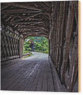 Twin Covered Bridges North Hartland Vermont Wood Print