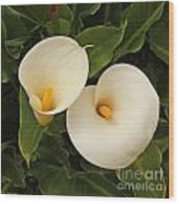 Twin Easter Sunday Lillies Wood Print