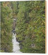 Twin Falls Cascade II Wood Print