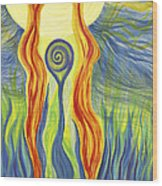 Twin Flames Wood Print
