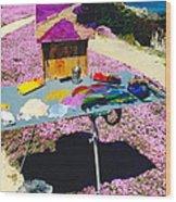 Oceanview Pinks Wood Print