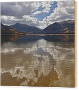 Twin Lake Colorado Wood Print