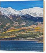 Twin Lakes Colorado Autumn Panorama Wood Print