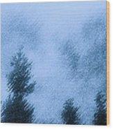 Twin Lakes Rain Wood Print