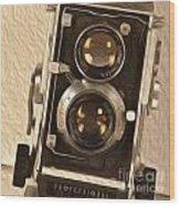 Twin Lens Reflex Redux Wood Print