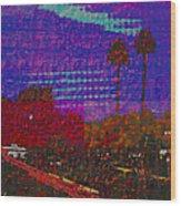 Twin Palms Purple Haze Wood Print