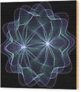 Twin Pulsar Wood Print
