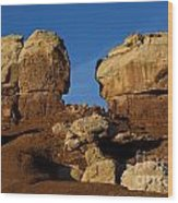 Twin Rocks Capitol Reef National Park Utah Wood Print