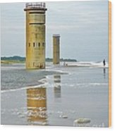 Twin Towers At Whiskey Beach Wood Print