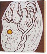 Twining Tree Wood Print