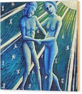 Twins Gemini Wood Print