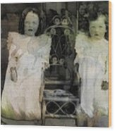 Twins Julia And Jim Cannon Circa 1903 Wood Print
