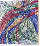 Twirls And Cloth Wood Print