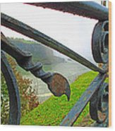 Twirls And Curls Wood Print