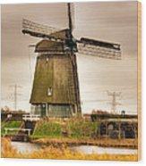 Twiske Windmill Wood Print