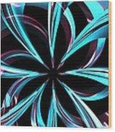 Twisted Blue Wood Print