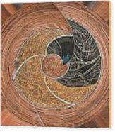 Twisted Koin Wood Print